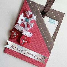 Christmas Cute idea to give flat ornaments