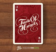 Type Deck playing cards #typography