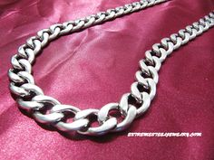 316L Surgical Steel Cuban Chain Necklace 12mm