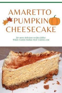 Baked Pumpkin, Pumpkin Recipes, Fall Recipes, Sweet Recipes, Holiday Recipes, Pumpkin Cheesecake Recipes, Pumpkin Spice, Köstliche Desserts, Delicious Desserts