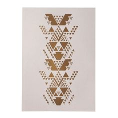 Gold and Peach Geometric Papercut by sarahlouisematthews on Etsy