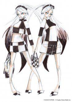Hatsune Miku costume design of Marc Jacobs.