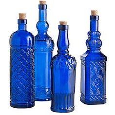 Spanish cobalt bottles
