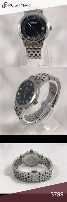 Raymond weil tango swiss made quartz men's watch Gently used with out any flaws works great have date display. Black dial. New battery. Comes in beautiful gift box. Reasonable offers welcome. Raymond Weil Accessories Watches
