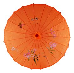 Asian Parasol Umbrella Fabric Hand-painted Chinese Japanese (Orange) * Discover this special product, click the image : Christmas Luggage and Travel Gear