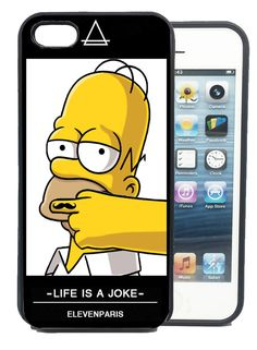 Coque iPhone et Samsung Homer Simpson Eleven Paris Swag Moustache Life is a joke
