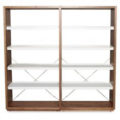 BluDot storage for inventory or office space (walnut add-on with white 1)