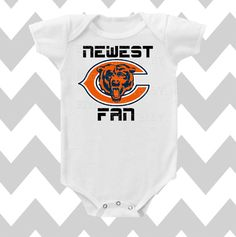 Newborn Chicago Bears Gray Stacked Fan Bodysuit