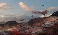 Shoreline, Wadim Kashin on ArtStation at https://www.artstation.com/artwork/gOGge