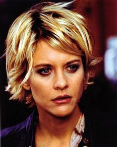 I loved Meg Ryan's hair like this.  I've always wanted it.  Wonder if I could pull it off!