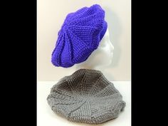 Basco semplice all'uncinetto - double face. Tutorial. How to crochet a beret - YouTube