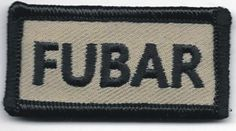 Tan-Black-Military-FUBAR-F-ked-Up-Beyond-All-Recognition-Velcro-Morale-Patch