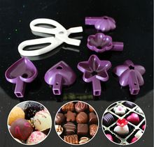 Cooking tools heart-shaped flower shaped star shaped Cake Chocolate Baking Lolly Pop Lollipop Mould Mold Cookie Cutter Clip(China (Mainland))