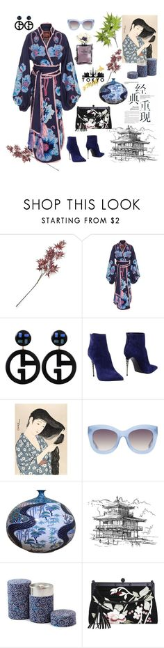 """""""Oriental 👘"""" by waltos ❤ liked on Polyvore featuring Crate and Barrel, Yuliya Magdych, Giorgio Armani, Le Silla, GOYO, Alice + Olivia and Tom Ford"""