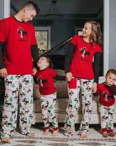 XMAS Family Matching Women Kids Sleepwear Nightwear Pajamas Set Pyjamas New cd3c3b7c3
