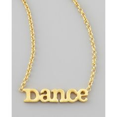Dance Chain Necklace - Dogeared (53 CAD) ❤ liked on Polyvore featuring jewelry, necklaces, accessories, colares, bijoux, 14 karat gold charms, 14 karat gold necklace, pendant necklaces, 14k yellow gold pendant and charm necklace