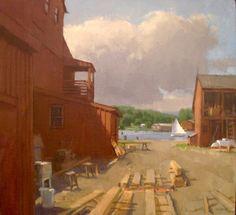 Jeff Reed - Boatyard | Art Essex Gallery
