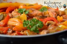 Przepyszny schab po bałkańsku Thai Red Curry, Paleo, Food And Drink, Ethnic Recipes, Dinner Ideas, Fit, Crickets, Meat, Easy Meals