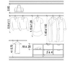 Standard Wardrobe Closet Design Guidelines - Engineering Discoveries Wardrobe Design Bedroom, Wardrobe Closet, Master Closet, Closet Bedroom, Walk In Closet, Bedroom Wall, Closets Pequenos, Wardrobe Dimensions, Dressing Design