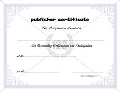 Top performer award certificate template download free pdf for Microsoft publisher award certificate templates