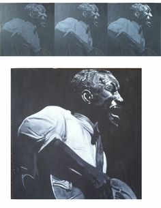 Son House. Acrylic and canvas -John Perry