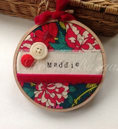 Personalised Embroidery Hoop Art- made to order  £8.50