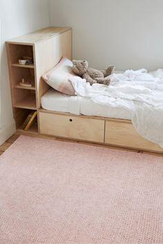 Fairy Floss Sierra - Armadillo Floor Rug from Curious Grace. Garderobe Design, Diy Bed, Plywood Furniture, Kid Spaces, New Room, Kids Decor, Floor Rugs, Girls Bedroom, Room Inspiration
