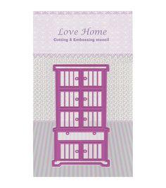 Joy! Crafts Cut & Emboss Love Home-Cupboard Die