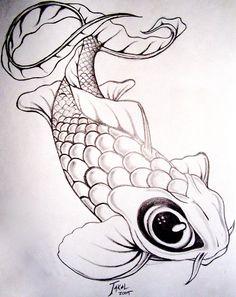 koi fish drawing - Google Search
