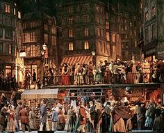 I recently was walking down a side street in Paris at night when I suddenly had the feeling I'd been there before. As I took a look around, I realized it wasn't in Life that I'd been there, but in Art. Franco Zeffirelli's set for the Met Opera production of La Boheme was something I got to stroll through on a nightly basis as a 10 yr old and I believe I bumped into the Parisian street he'd modeled it on. In the production there was a moment when everyone on the set except two young lovers…