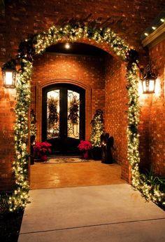 2013 Porch Christmas Decoration Ideas, Light Christmas porch decoration, front door for Christmas