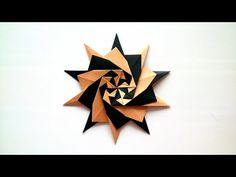 Origami Star (Francesco Mancini). Tutorial. - YouTube