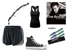 """Training with Clint"" by pandaperson123 ❤ liked on Polyvore featuring NIKE, J.TOMSON and Converse"