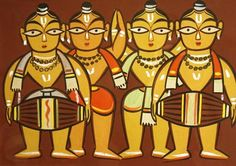 One of the very first trysts that I had with folk art was through Jamini Roy's paintings.I don't need to say anything about his work.
