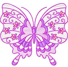 BUTTERFLIES PASTEL 10 MACHINE EMBROIDERY DESIGNS in Crafts, Embroidery, Design CDs   eBay