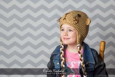 Knitted otter cap crochet animal hat for babies by PrincesseZhibou