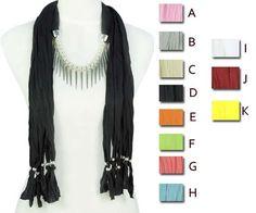 needle-like pendant scarf Fashion jewelry scarves necklace lady shawl