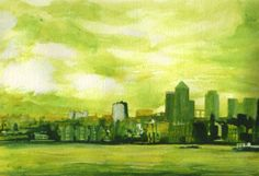 Buy original art via our online art gallery by UK/British Artists. A huge selection of modern art paintings for sale, as well as traditional artwork for sale through Art Discovered Online. Art Paintings For Sale, Modern Art Paintings, Traditional Artwork, Paul Mitchell, Cityscapes, Online Art Gallery, Original Art, Green, Artist