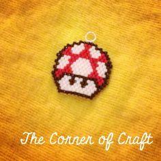 A Super Mario mushroom made in brick stitch :)