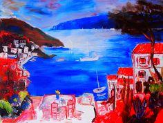 Cote d` Azur Oil Canvas Spatula #painting #art #kunst #malerei http://peckolinos.jimdo.com