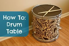 Revolutionaries: How To: Drum Table and a Giveaway from Cutting Edge Stencils!
