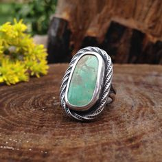 Hachita Turquoise Sterling Silver Ring. by QuietTimeJewelry