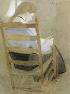 Girl Reading - Helene Schjerfbeck