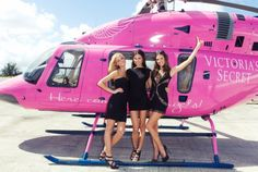 OF COURSE it's pink... Victoria's Secret  helicopter