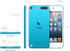 iPod Touch avec écran Retina vidéo Full HD, iOS 6 et processeur Ios, Ipod Touch 5th Generation, Iphone, Apple Products, Blue, Google Search, Central Processing Unit