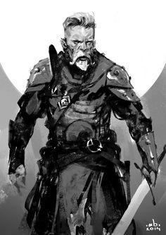 Daily sketch 20 by Borislav Mitkov on ArtStation. Fantasy Character Design, Character Design Inspiration, Character Concept, Character Art, Concept Art, Dnd Characters, Fantasy Characters, Armadura Medieval, Art Anime