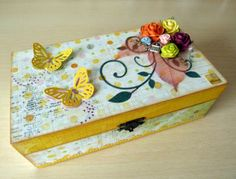 deco boxes with scrapbooking Diy And Crafts, Crafts For Kids, Prayer Box, Altered Boxes, Diy Box, Keepsake Boxes, Easy Diy, Decorative Boxes, Projects To Try