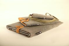"""Covers for laptop, tablet and phone"" pisa fabric sarjan säilyttimet tietokoneelle, tabletille ja puhelimelle. #habitare2014 #design #sisustus #messut #helsinki #messukeskus"