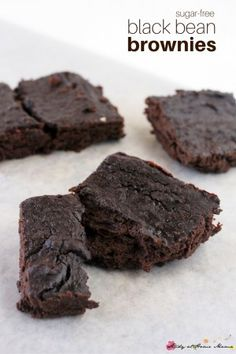 Bean Brownie Sugar-free Black Bean Brownies, a delicious and easy brownie recipe from the kids' kitchen. A healthy dessert you can feel good about serving to your familyDelicious Delicious may refer to: Healthy Deserts, Healthy Sweets, Healthy Dessert Recipes, Healthy Baking, Whole Food Recipes, Salad Recipes, Sugar Free Desserts, Köstliche Desserts, Swiss Desserts