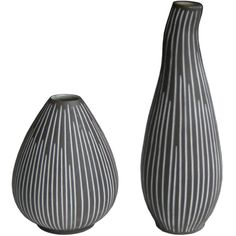 Pair of Danish Ceramic Vases Denmark, c. Black And White Vase, Mid Century Design, Danish, Cement, Concrete, Midcentury Modern, Objects, Clay, Pottery